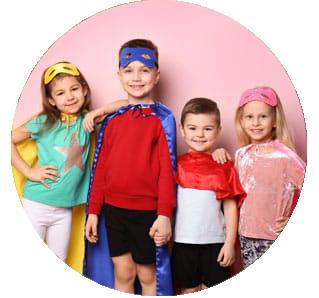 children  at the little smiles program at the dentist