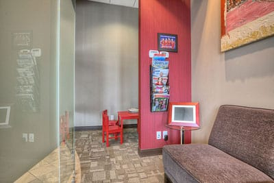 southwest calgary dental office lobby