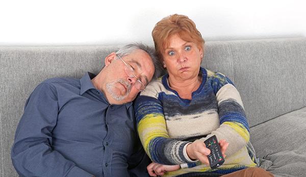 man with sleep apnea annoying wife
